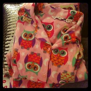 Plus size Pink Fleece Owl Pajamas